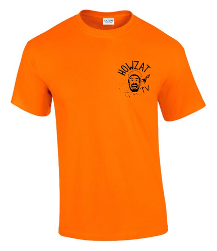 HOWZAT TV T-SHIRT - SAFETY ORANGE