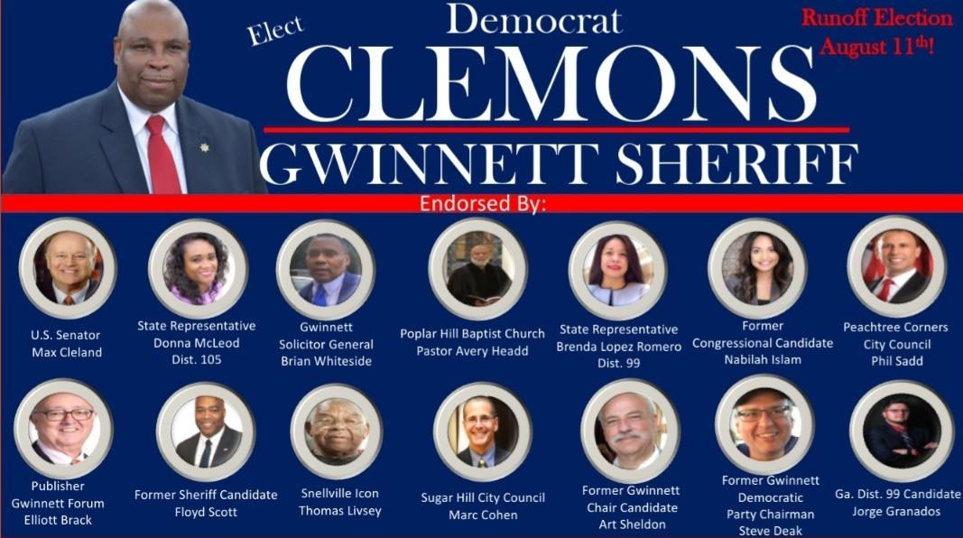 Clemons for Gwinnett Sheriff