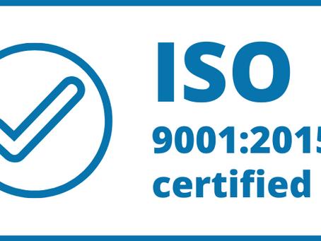 Получен сертификат ИСО-9001