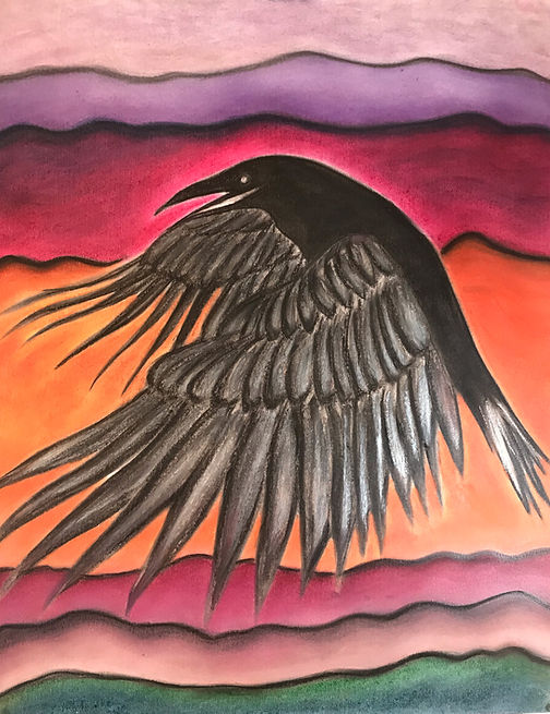 Beverly Kleiber, Raven after the Fire, c