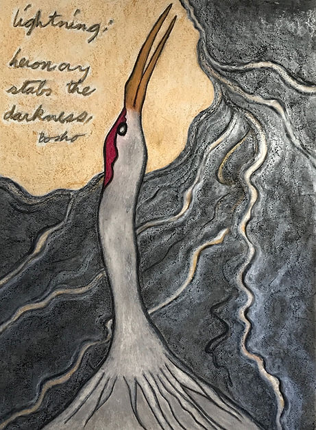 Heron cry Lightening stabs the Darkness.