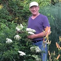 Terry Durham with elderberries