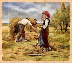 Fresque sur carrelage pour cuisine