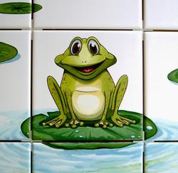Détail d'une fresque pour toilettes