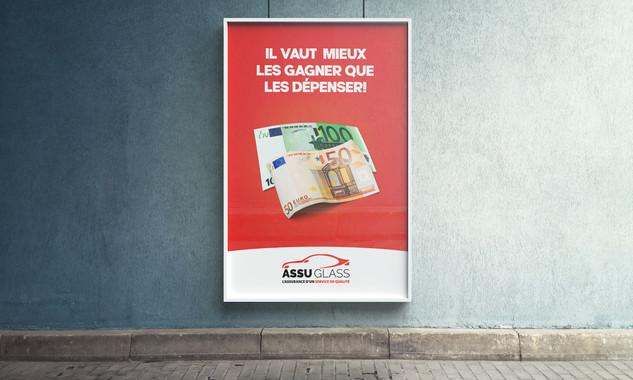 Affiche publicitaire pour AssuGlass