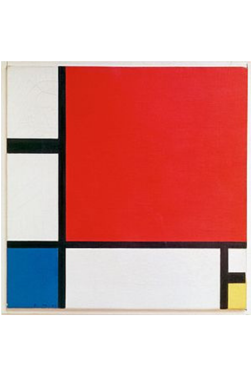 Composition with Red, Blue and Yellow. Piet Mondrian, 1930