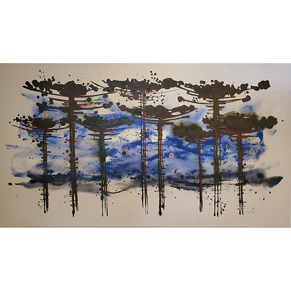 Araucária Azul Oséias Leivas Arte12b Gramado Galeria de Arte