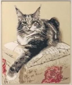 Pintura Gato do artista Vitor Senger