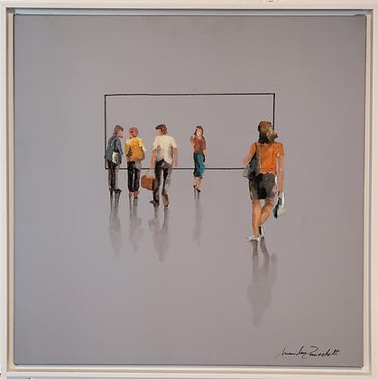 Série Pessos 3D sob fundo cinza