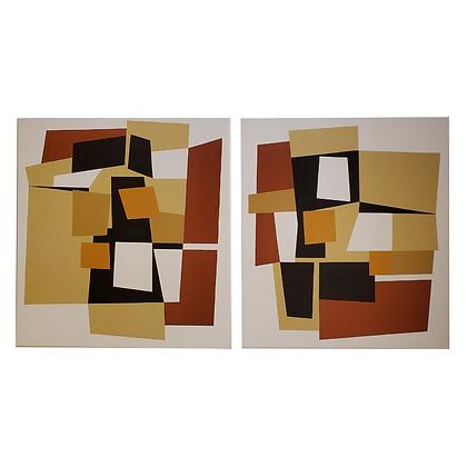 Oseias Leivas Arte12b Gramado Arte Abstrato tons terrosos geométricos