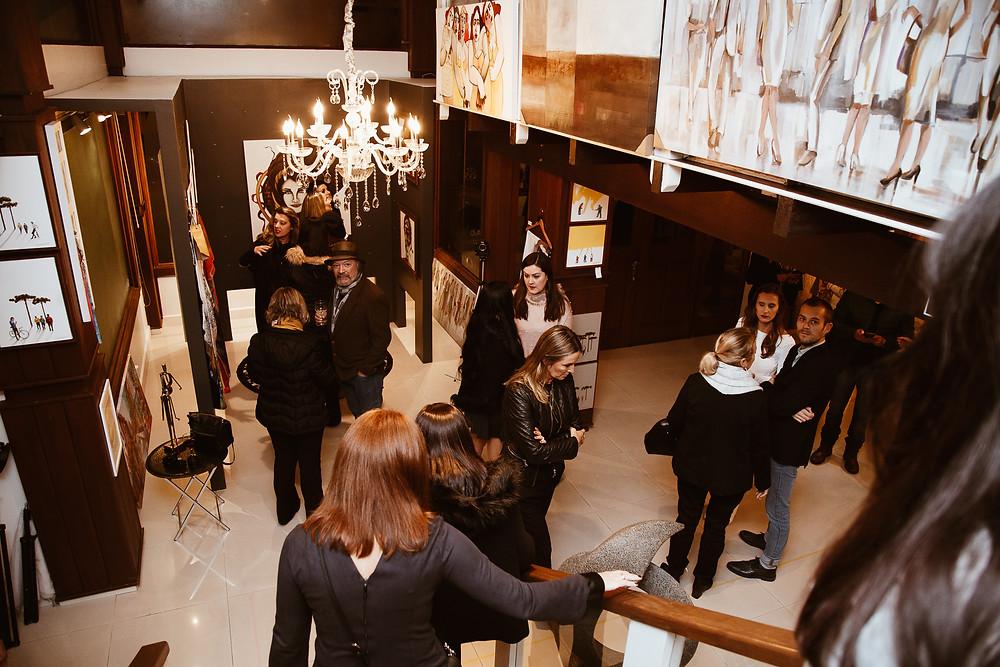 Evento Arte Aplicada na Galeria Arte12b, em Gramado.