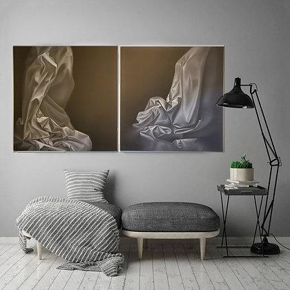 Janaína Gomes Arte12b Gramado Arte Abstrato Preto e Branco Contemporâneo Ambiente Decorado