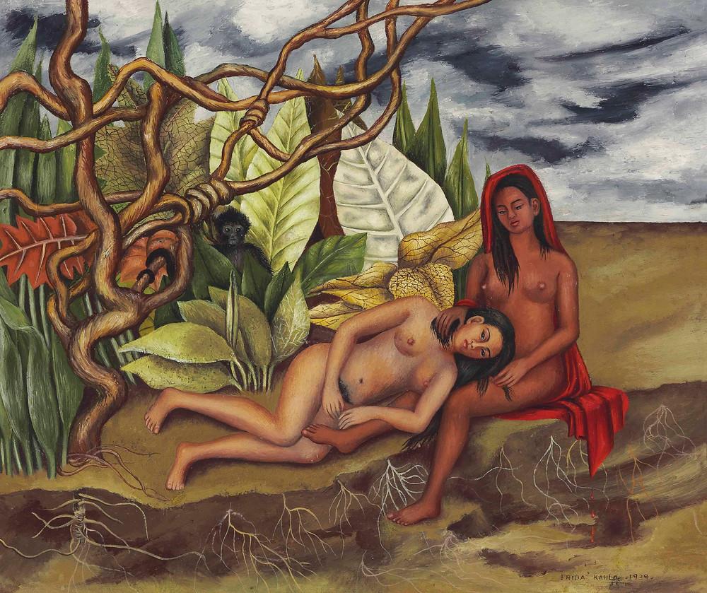 Dos Desnudos en el Bosque - Frida Kahlo, 1939