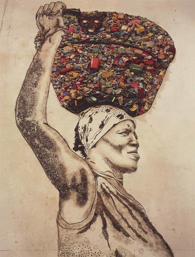 Arte sustentável por Vik Muniz.
