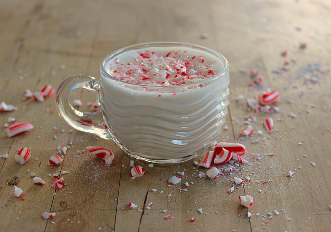 New Recipe: Peppermint Bark Eggnog