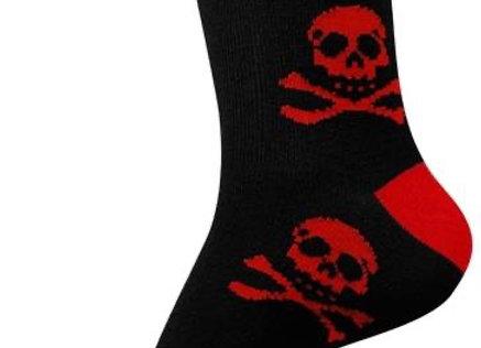 """chaussettes courtes Tête de Mort """" Red Dead Head """""""