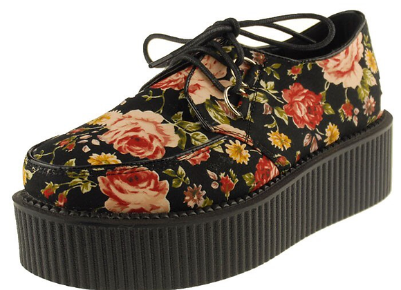 Chaussure Femme CREEPERS. Old School Floral , Taille 35