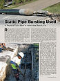 Trenchless Technology Magazine Static Pipe bursting