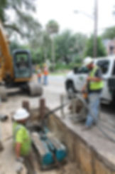 Static Pipe bursting water main replacement