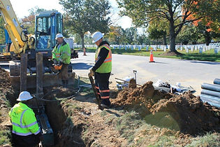 Pipe bursting for federal water main replacement