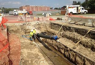 Slip lining water transmisson main