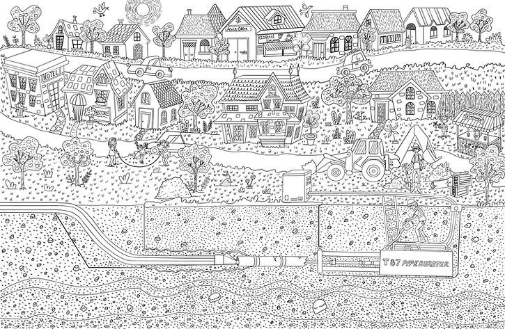 Trenchless Kids Coloring Download