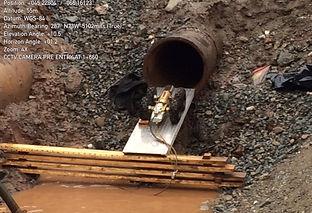 CCTV inspection prior to sliplining water main