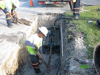 Static Pipe bursting Water Main Replacement
