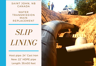 Sliplining with HDPE pipe