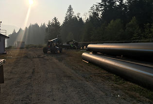 HDPE pipe fusion for sliplining