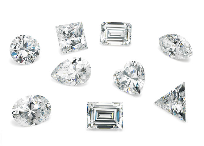 Loose Diamond Shapes Assorted on White B