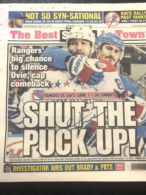 Chris Kreider Signed/NY Post 2015