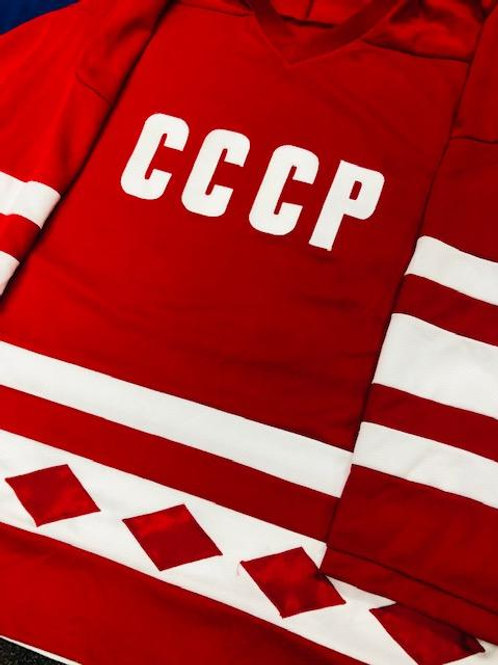 Signed 1980 Tretiak Russia Jersey