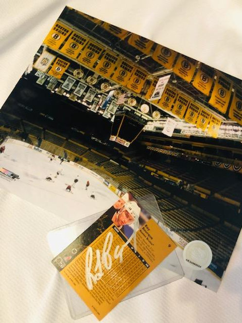 Ray Bourque Signed Card/Boston Garden