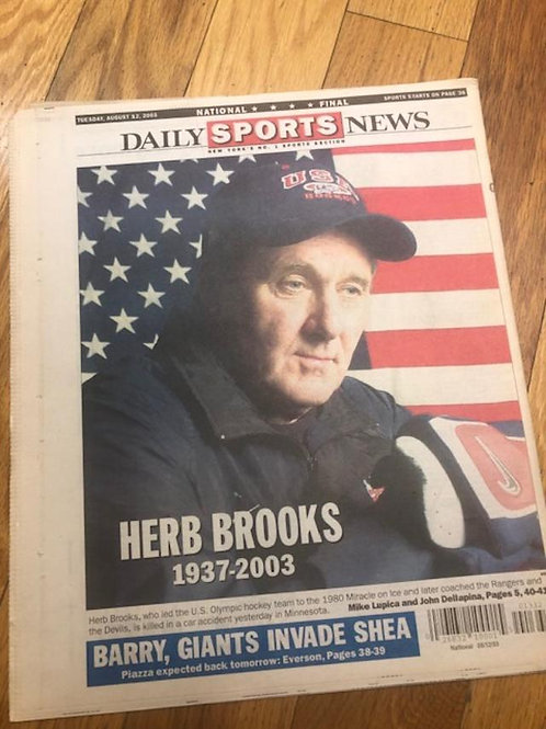 Herb Brooks Passes /NY Daily News