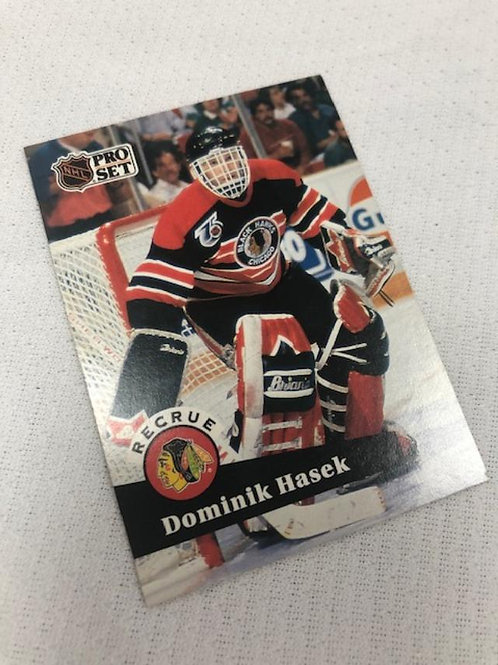 Dominic Hasek Signed Rookie Card