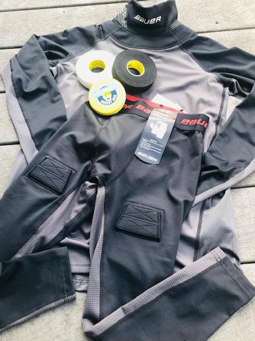 Bauer Neck Shirt/Compression Pant Set