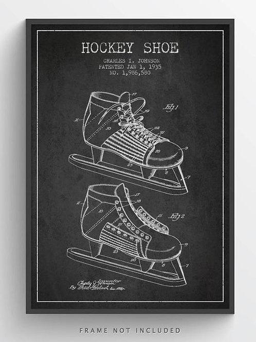 Hockey Skate Patent - Print 20 x 27