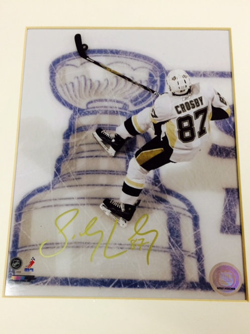 Crosby Signed Cup Glossy