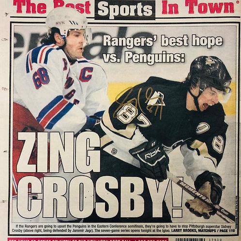 Crosby Signed NY Post
