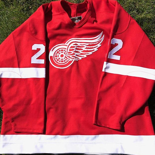 AHL Game Used Red Wings Jersey