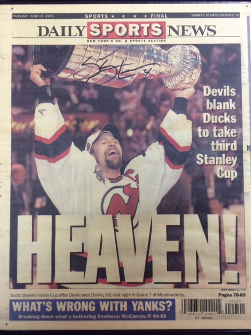 Stevens Signed Cup NYDN