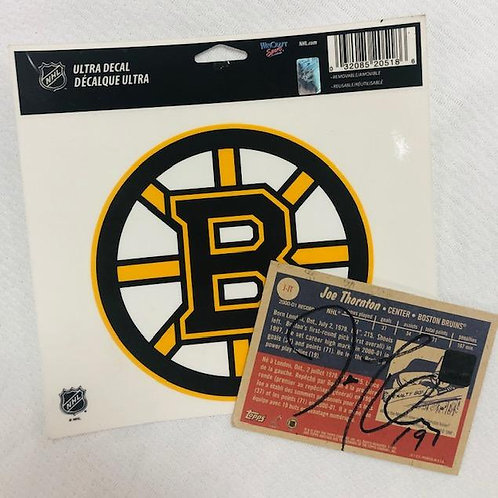 Bruins Joe Thornton Game Jersey Card