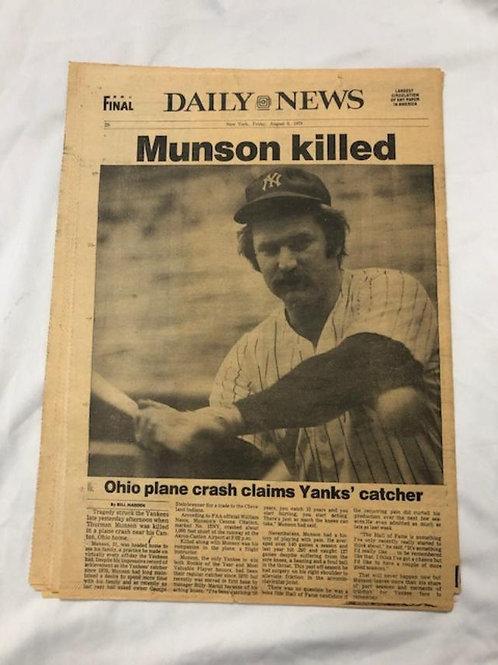 Munson Killed 1979 Daily News