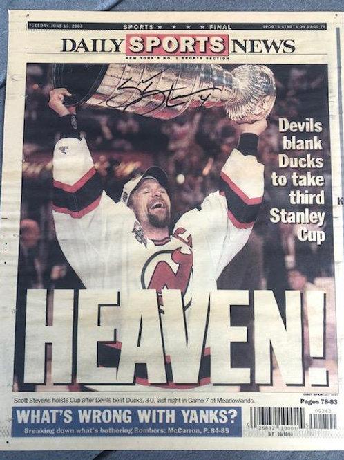 Scott Steven Devils CupSigned/2003