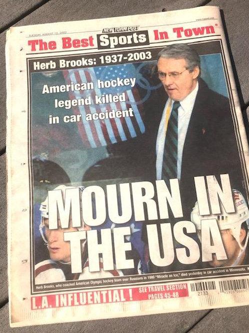 Herb Brooks Passes/NYPost