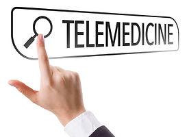 Telemedicine written in search bar on virtual screen.jpg