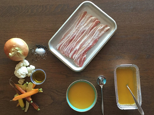 Carrot, Cauliflower & Bacon Soup