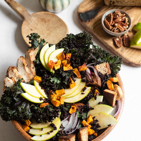 Black Rice and Kale Salad