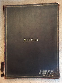 Front cover of the a music compilation, containing the Halifax manuscript of northumbrian smallpipes tunes possibly by Robson Boot